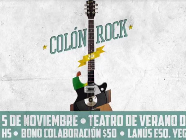 Afiche del Colón Rock