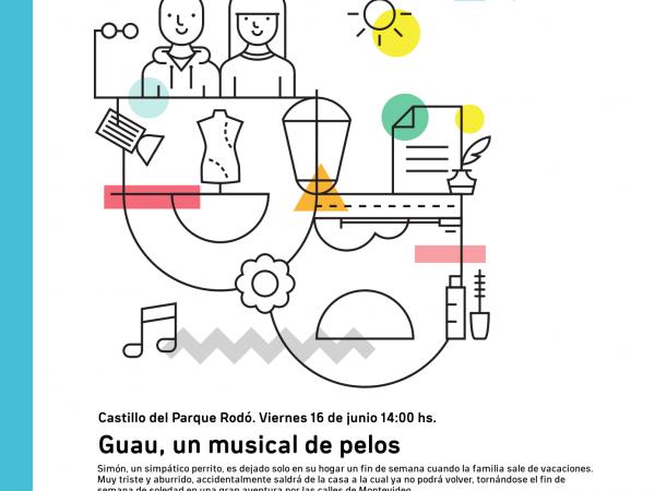 Afiche de Guau, un musical de pelos