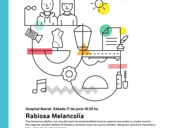Afiche de Rabiosa Melancolía en Hospital Maciel