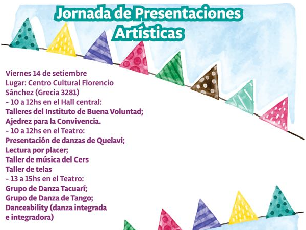 Jornada de presentaciones artísticas